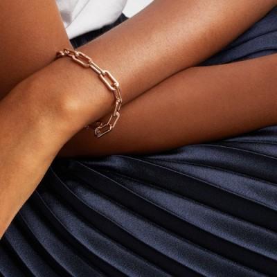 MONICA VINADER Alta Capture Charm Bracelet 18ct Rose Gold Vermeil on Sterling Silver | chain link bracelets