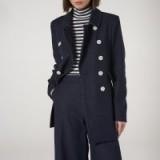 L.K. BENNETT FELLI BLUE COAT in denim / double breasted pea coats