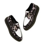 No. 21 FLORAL CREEPERS in Black / Pink / White