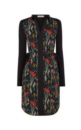OASIS FLORAL WOVEN SHIRT DRESS / side tie dresses