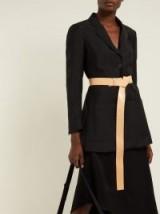 ANN DEMEULEMEESTER Fold-over beige-leather waist belt ~ essential accessories