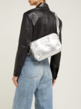 MAISON MARGIELA Glam Slam quilted silver metallic-leather cross-body bag ~ luxe bags