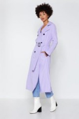 NASTY GAL Go a Long Way Trench Coat in lavender ~ longline belted coats