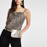 River Island Gold metallic leather pouch belt bag | luxe style bum bags