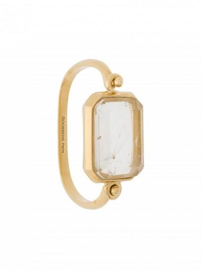 GOOSSENS Stones bracelet / emerald cut rock crystal jewellery