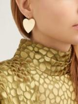 IRENE NEUWIRTH Heart 18kt gold earrings ~ hearts ~ beautiful Valentine gift