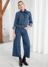 & other stories High Rise Culotte Jeans in mid blue   cropped denim