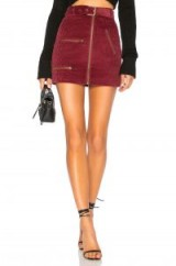 House of Harlow 1960 x REVOLVE Tori Skirt in Berry Red – zip detail corduroy mini