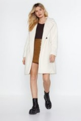 NASTY GAL I Won't Fur-get You Faux Fur Coat in Ivory – FLUFFY WINTER JACKETS
