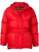 Emily Ratajkowski's bright padded jacket out in New York City, January 2019, IENKI IENKI oversized puffer jacket in Fiery Red | celebrity street style jackets