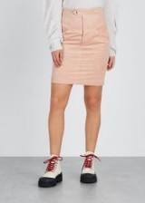 ISABEL MARANT Marsh light pink corduroy skirt   fitted cord skirts