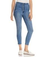 J Brand Natasha Sky High Crop Skinny Jeans in Vega ~ button detail skinnies
