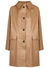 KASSL Mocha coated cotton-blend coat – coffee-brown coats