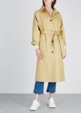 KASSL Sand cotton-blend trench coat – neutral tie waist raincoat