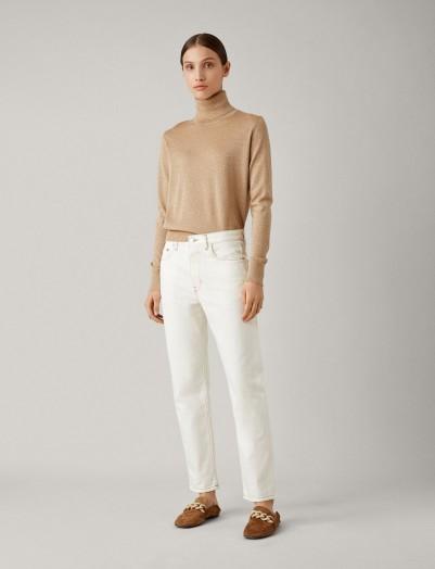 JOSEPH Kemp White Denim Trousers | slim boyfriend jeans