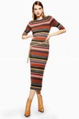 Topshop Knitted Stripe Dress | midi sweater dresses