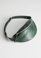 & other stories Leather Beltbag in Green | luxe belt bags