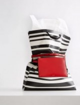 JOSEPH Leather Montmartre Bag in Red | belt/crossbody bags