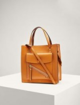 JOSEPH Leather Portobello 25 Bag in Orange / square shaped handbags