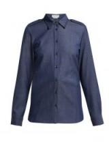 GABRIELA HEARST Lightweight denim shirt in blue