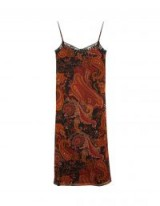 stradivarius Limited Edition printed long sleeve camisole dress Colour: 0-357 – paisley cami dresses