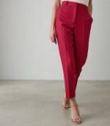 REISS LIVVI TROUSER SLIM FIT TAILORED TROUSERS MAGENTA ~ colour pop pants