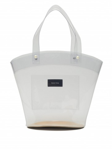 SIMONE ROCHA Logo-patch clear PVC bucket bag ~ transparent bags