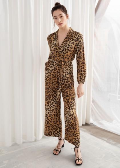 & other stories Long Sleeve Leopard Print Jumpsuit | animal prints