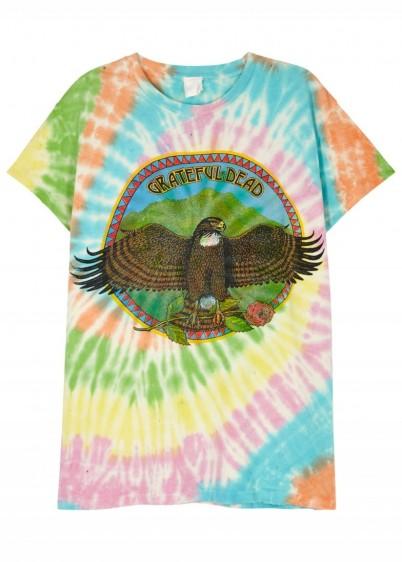MADEWORN Grateful Dead tie-dye cotton T-shirt / multi-coloured tee