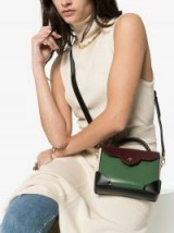 Manu Atelier Green Micro Leather Satchel Bag | small luxe crossbody
