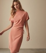 REISS MARCIA WAIST DETAIL DRESS PINK ~ chic contemporary style