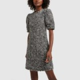 G. Label MARINA TWEED DRESS in Black/White / chic bouclé fashion