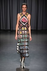 Mary Katrantzou READY-TO-WEAR SPRING/SUMMER 2019 – a fashion collection about collections – stamp collecting theme