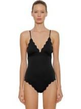 MARYSIA SANTA CLARA BLACK MAILLOT SCALLOPED ONE PIECE SWIMSUIT – chic swimsuits