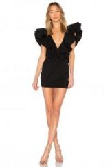 Michael Costello x REVOLVE Jackson Dress in Black | plunge front statement mini