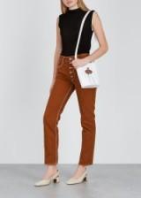 MM6 BY MAISON MARGIELA Dark terracotta slim-leg jeans ~ brown denim