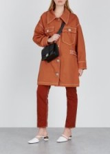 MM6 BY MAISON MARGIELA Terracotta oversized denim coat ~ orange-brown outerwear