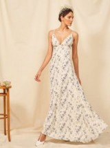 Reformation Modena Dress in Madeline | strappy plunge front maxi dresses | summer wedding guest fashion