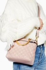 Topshop Molly Mini Quilted Tote Bag in Nude | pale-pink top handle/shoulder bags