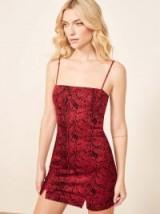 Reformation Morrison Dress in Cobra | snake print mini dresses