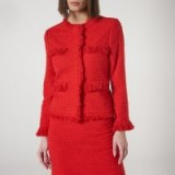 L.K. BENNETT MYIA RED TWEED JACKET in true red / chic suit jackets