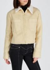 NANUSHKA Bae faux shearling-lined denim jacket ~ light-sand jackets