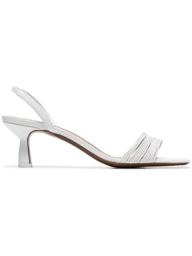 NEOUS white Rossi 55 leather slingback sandals / chic slingbacks