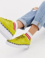 Nike Yellow Air Force 1 Swoosh Tape Trainers – BRIGHT SNEAKERS