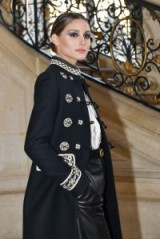 Olivia Palermo attends Christian Dior Haute Couture Spring/Summer 2019 show during Paris Fashion Week.