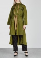 PALMER//HARDING Brooke olive oversized shell parka in olive – modern style coats – green outerwear