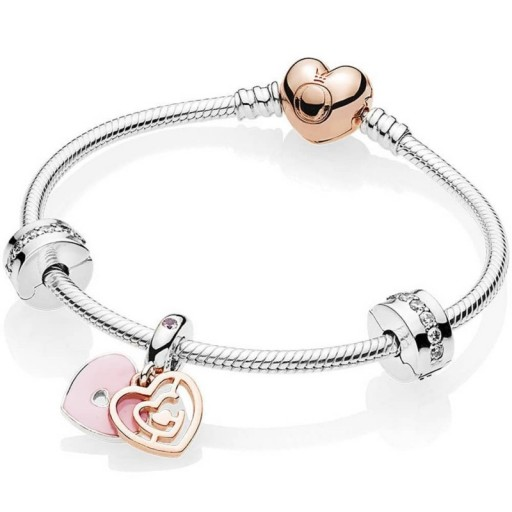 PANDORA ROSE PATH TO LOVE BRACELET B801114 | valentine gifts | Valentine's day jewellery