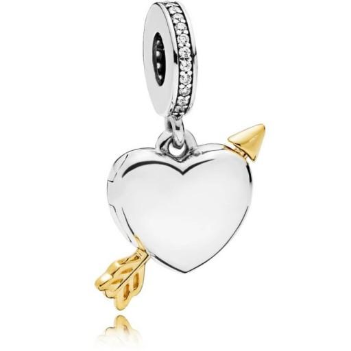PANDORA SHINE ARROW OF LOVE PENDANT CHARM 767816CZ | heart charms | Valentine's jewellery