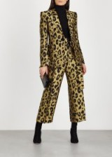 PETAR PETROV Harell leopard gold-jacquard trousers ~ glamorous cropped pants