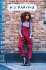 Corduroy Dungarees in Maroon